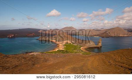 Pinnacle Rock And Isla Bartolome In The Galapagos