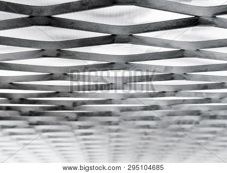 Expanded-exhaust Steel Sheet Close-up, Steel Grating Structure