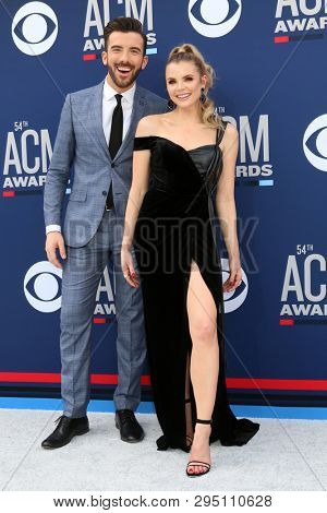 LAS VEGAS - APR 7:  Jeremy Parsons, Andrea Balki at the 54th Academy of Country Music Awards at the MGM Grand Garden Arena on April 7, 2019 in Las Vegas, NV