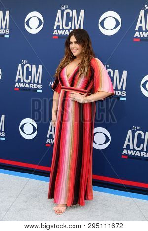 LAS VEGAS - APR 7:  Hillary Scott at the 54th Academy of Country Music Awards at the MGM Grand Garden Arena on April 7, 2019 in Las Vegas, NV