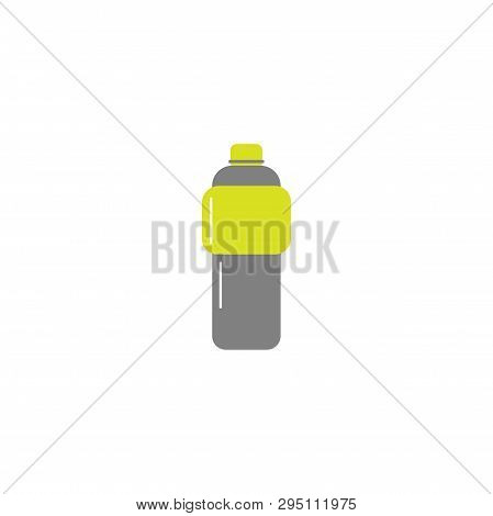 Vector Flat Style Icon - Sport Bottle For Water Or Isotonic - For Logo, Icon, Poster, Banner, Health