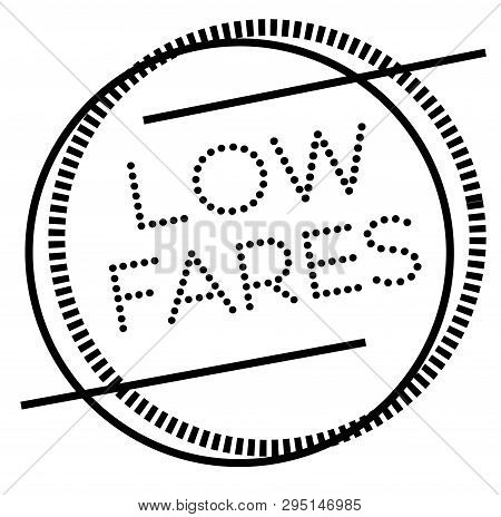 Low Fares Stamp On White. Stamps And Advertisement Labels Series.