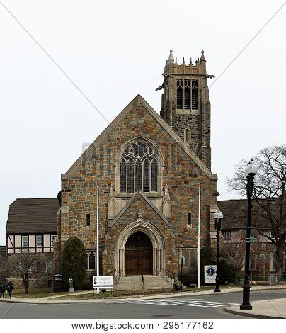 Quincy, Massachusetts - April 5, 2019: Bethany Congregational Church In Quincy, Massachusetts, Histo