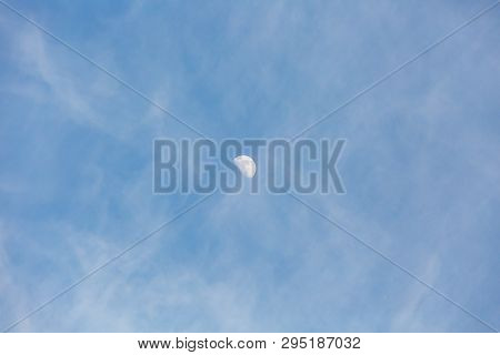 Blue Sky With Small Dense White Clouds