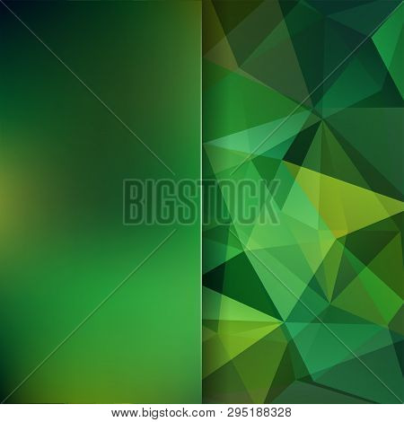 Green Polygonal Vector Background. Blur Background. Can Be Used In Cover Design, Book Design, Websit