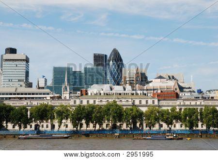 Office Skyline Including The Gherkin