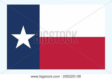 Texas Flag Vector. Flag Of Texas Is The Second Largest State Of United States. Vector Illustration