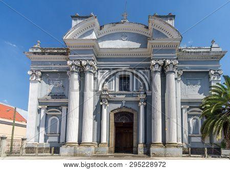 View At The Facade Of San Francisco Church In Guatemala City - Guatemala