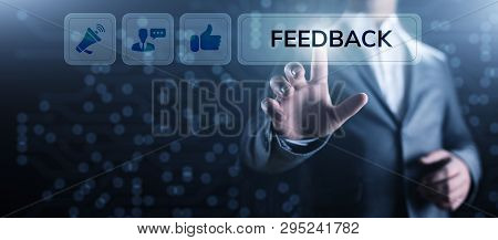 Feedback Customer Satisfaction Review Testimonials Service Business Concept.