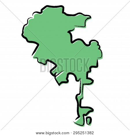 Sketch Green Map Of Los Angeles, Usa