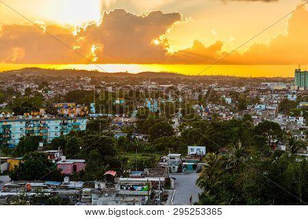 Cuban City Sunset Panorama, Santa Clara, Cuba