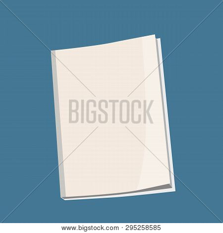 Mockup Cover Magazine, Book, Booklet, Brochure. Illustration Isolated. Blank Mock Up Template Ready