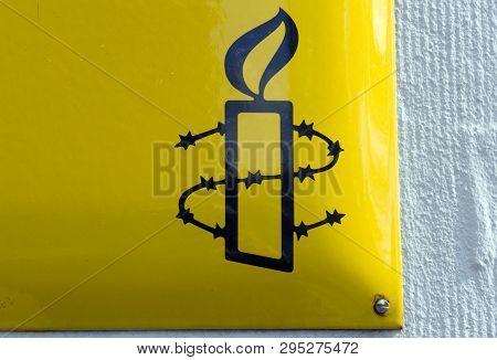 Sign Of Amnesty International In Amsterdam I