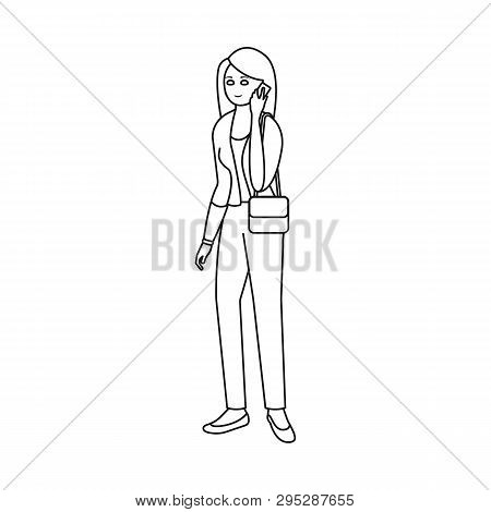Vector Design Of Woman  And Business Logo. Set Of Woman  And Businessperson Stock Vector Illustratio