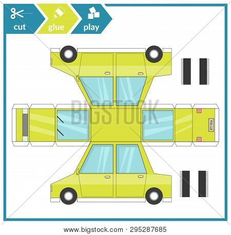 Cut Glue Paper Car  Vector & Photo (Free Trial) | Bigstock