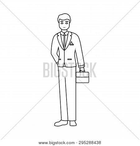 Isolated Object Of Man  And Business Icon. Set Of Man  And Businessperson  Stock Symbol For Web.