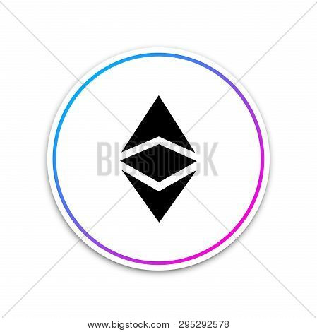 Cryptocurrency Coin Ethereum Classic Etc Icon On White Background. Physical Bit Coin. Digital Curren