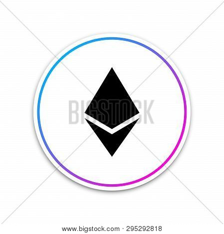 Cryptocurrency Coin Ethereum Eth Icon On White Background. Physical Bit Coin. Digital Currency. Altc