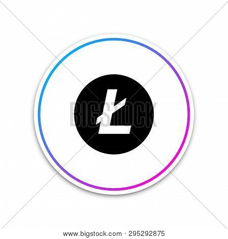 Cryptocurrency Coin Litecoin Ltc Icon On White Background. Physical Bit Coin. Digital Currency. Altc