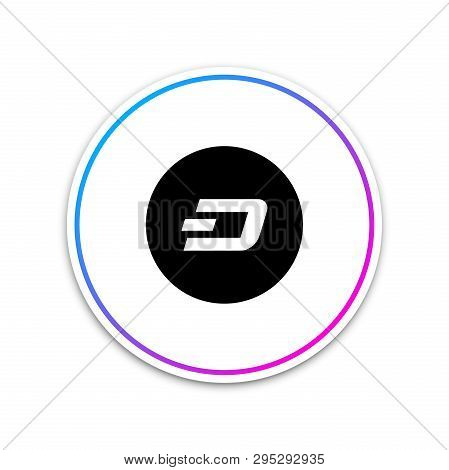 Cryptocurrency Coin Dash Icon Isolated On White Background. Physical Bit Coin. Digital Currency. Alt