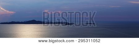 Sunset At Koh Larn Island In Thailand.