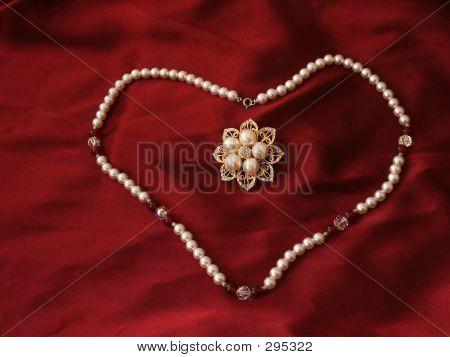 Heart Necklace & Brooch