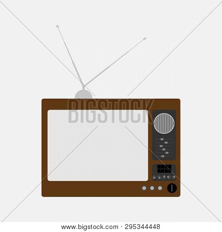 Old Television. Retro Tv. Isolated Vector Illustration.