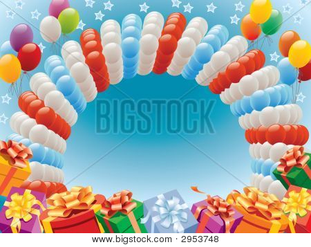 Balloons And Presents