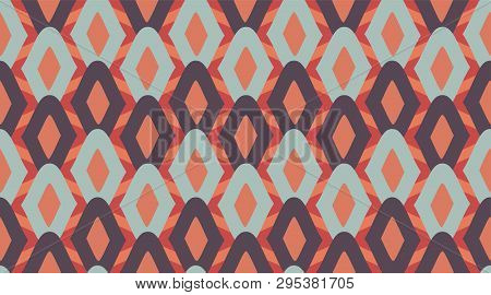Seamless Geometric Pattern.  Delicate Beautiful Ornament.  Repeating Tile Interior Design Background