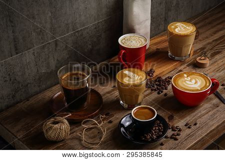 American Coffee, Espresso Coffee, Latte Coffee, Flat White Coffee
