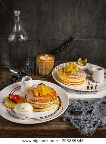 Hot Sweet Cake, A Set Of English Afternoon Tea