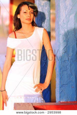 Beautiful Young Latino Woman