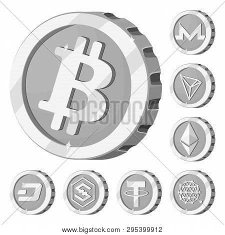 Vector Illustration Of Cryptocurrency And Coin Logo. Set Of Cryptocurrency And Crypto Stock Vector I