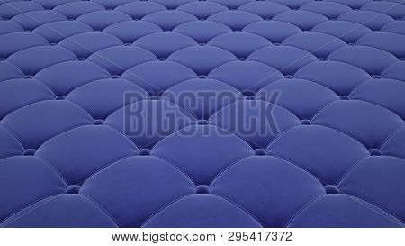 Quilted Fabric Surface. Light Blue Velvet. Option 1