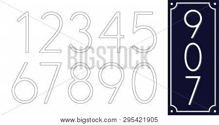 10 Number Templates  Vector & Photo (Free Trial) | Bigstock