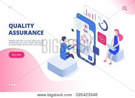 Quality Assurance Concept. Assured Result Productive Decision Analysis Inspection Software Fixing Bu