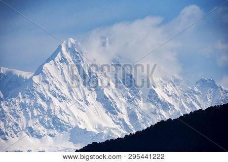 Himalayan Peaks Seen From Devriya Taaal, Garhwal, Uttarakhand, India