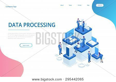 Isometric Expert Team For Data Analysis, Business Statistic, Management, Consulting, Marketing. Adva