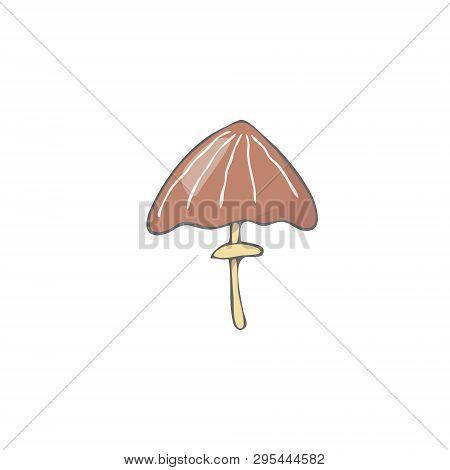 Mushrooms Figure Clip Art Vector Color Texture Element Funny Forest Oak Similar Fantasy Red Bown Lon
