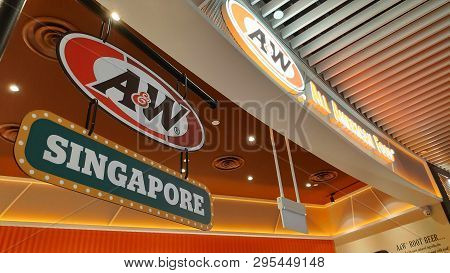 Singapore, 11 Apr, 2019: American Fast Food Giant A&w Restaurants Located Inside The Jewal Changi Ai