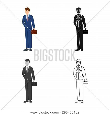 Vector Design Of Man  And Business Icon. Set Of Man  And Businessperson  Stock Vector Illustration.