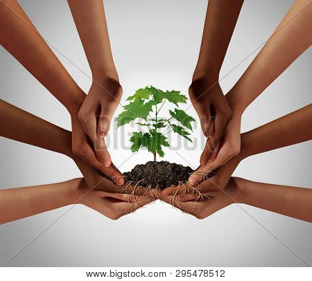 Social Community Cooperation Concept And Group Crowdfunding Investment Symbol As A Team Of Diverse H