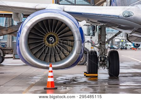 View Of The Engine And Landing Gear Aircraft
