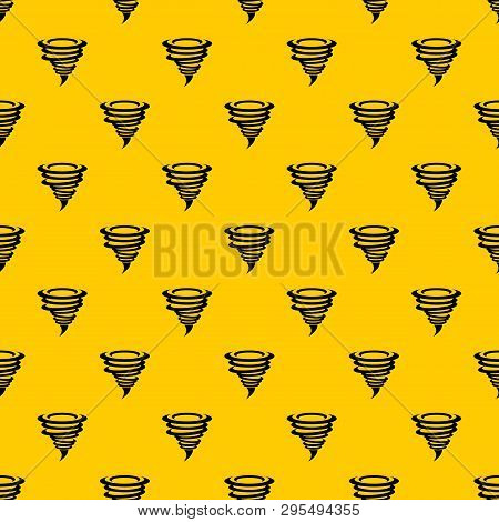 Tornado Pattern Seamless Vector Repeat Geometric Yellow For Any Design