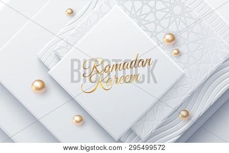 Ramadan Kareem. Modern Cover Design. Vector Illustration. Islamic Holiday. Muslim Month Ramadan Post