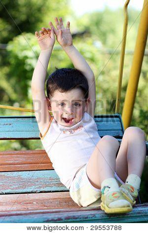 emotional four-year-old boy
