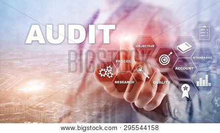 Audit Business And Finance Concept. Nalysis Annual Financial Statements, Analyze Return On Investmen