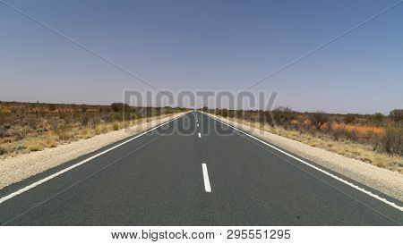 Scenic View Of Stuart Highway Between Adelaide And Darwin, Outback, Australia