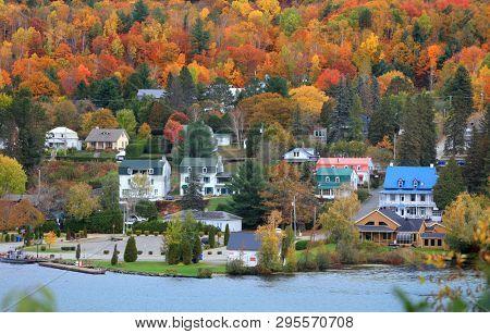 Grandes Piles town ,Quebec, Canada