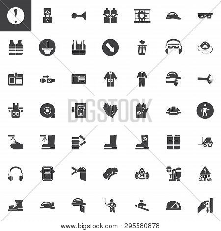 Mandatory, Safety Signs Vector Icons Set, Modern Solid Symbol Collection, Filled Style Pictogram Pac